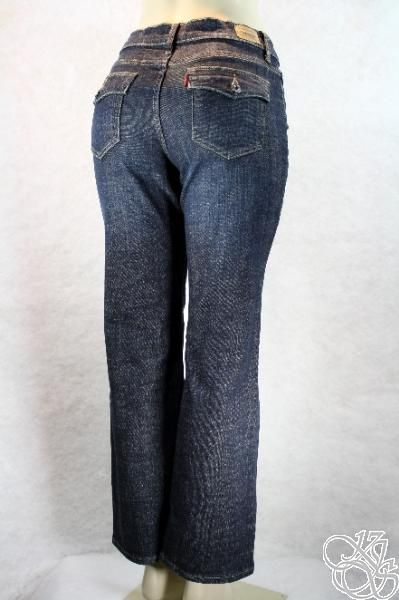 512 Slimming Boot Cut Jeans Deep Melody Denim Petites Pants New