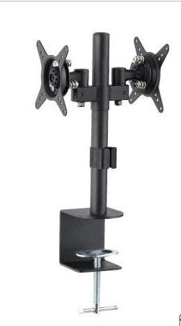 Dual Opposite LCD Monitor Desk Mount Height Adjustable